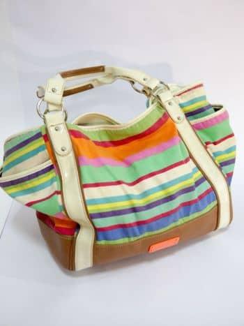 Bolso de rayas multicolor