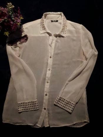 Blusa seda Ela blanca