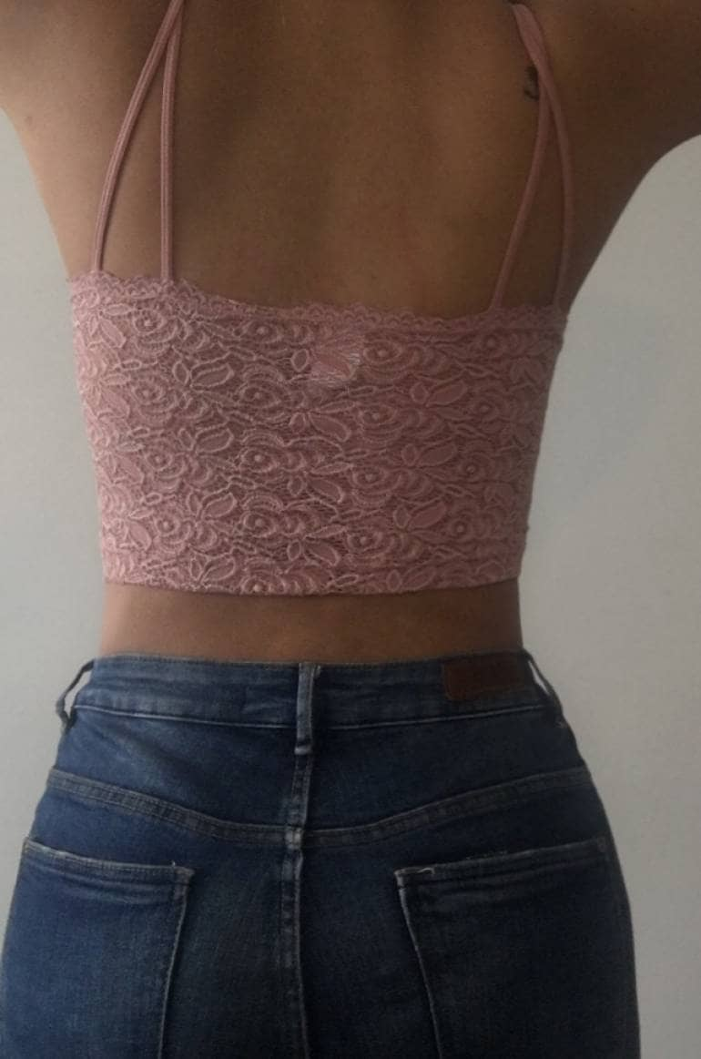 b4353d747b90b1 Crop top encaje - GoTrendier - 256242