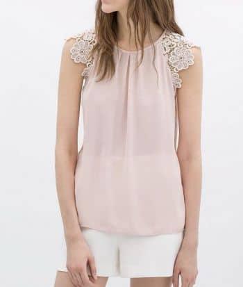 Blusa Zara rosada