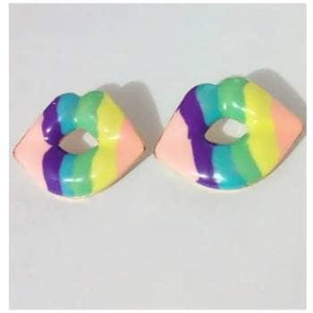 Aretes Labios Multicolor