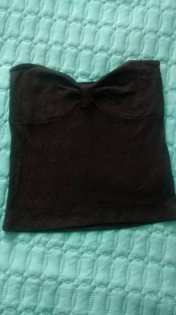 Blusa negra straple