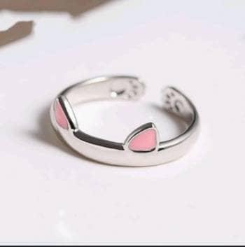 Lindo anillo orejas gato