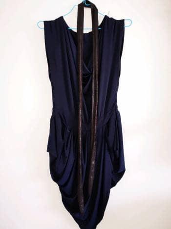 Vestido coctel drapeado