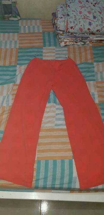 Pantalon en Crepé color Coral