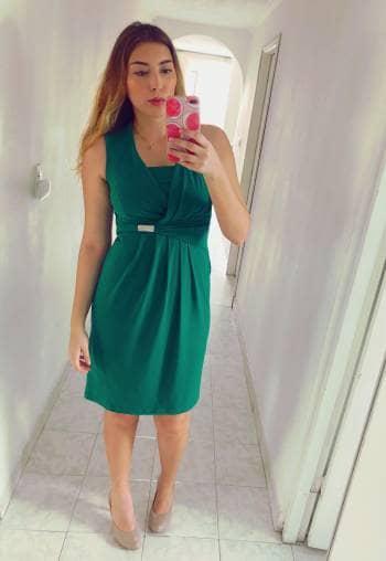 Vestido verde formal