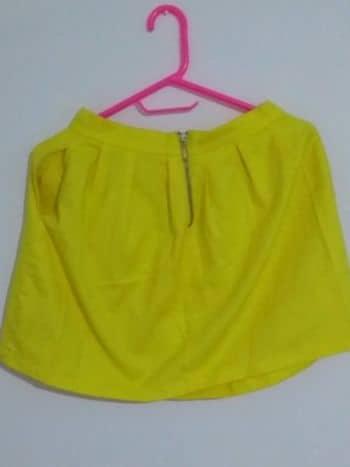 6cc9f564f Falda amarilla corta de pliegues - GoTrendier - 87886