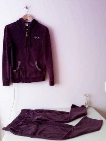 ecff363c1 Precioso conjunto Fila en velvet morado stretch - GoTrendier - 181617
