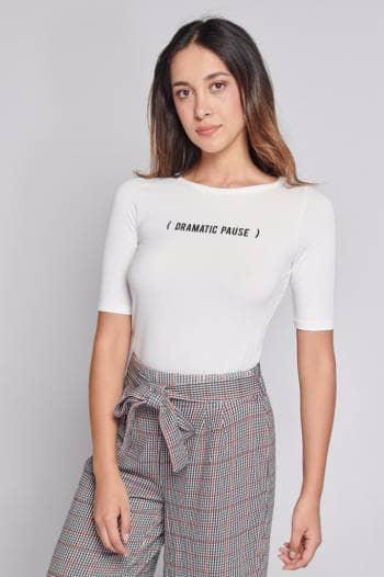 Camiseta basica estampada